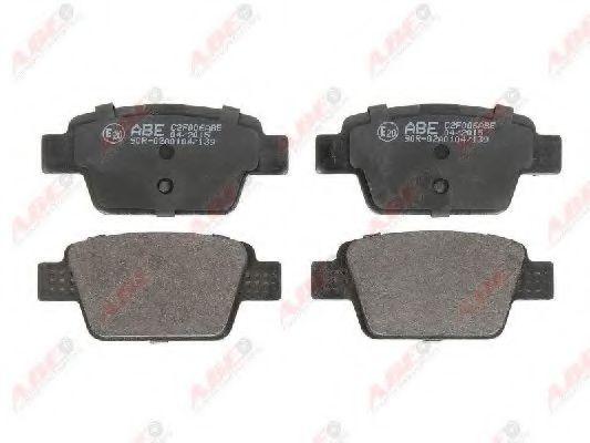 Комплект тормозных колодок, дисковый тормоз  арт. C2F006ABE