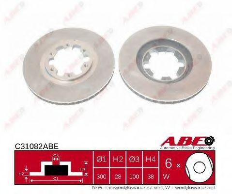 Тормозной диск  арт. C31082ABE