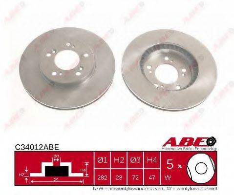Гальмівний диск  арт. C34012ABE