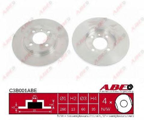 Гальмівний диск BOSCH арт. C3B001ABE