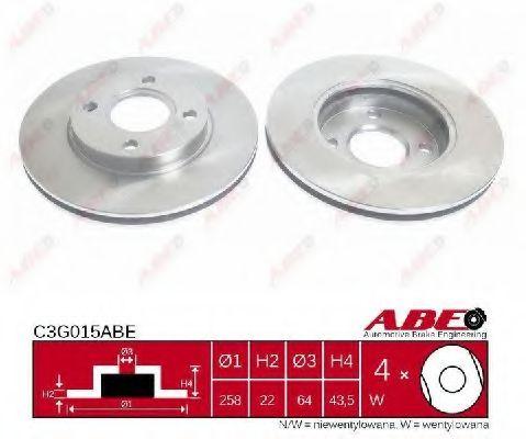 Гальмівний диск  арт. C3G015ABE