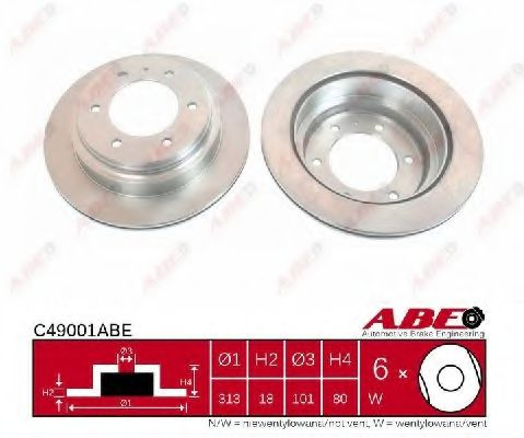 Гальмівний диск  арт. C49001ABE