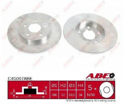Тормозной диск  арт. C4G007ABE