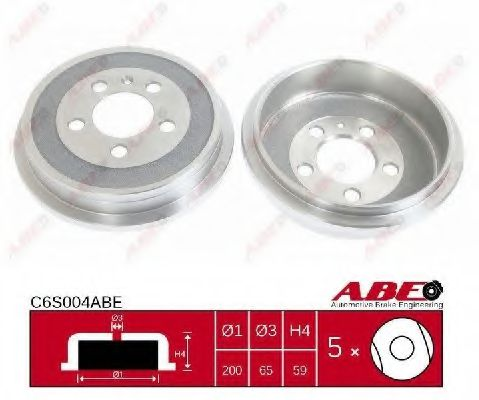 Тормозной барабан Тормозной барабан ABE арт. C6S004ABE