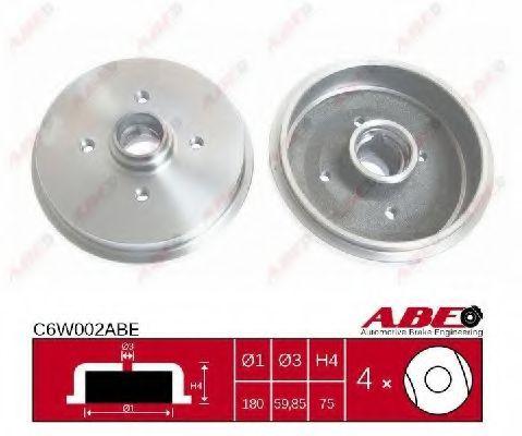Тормозной барабан Тормозной барабан ABE арт. C6W002ABE