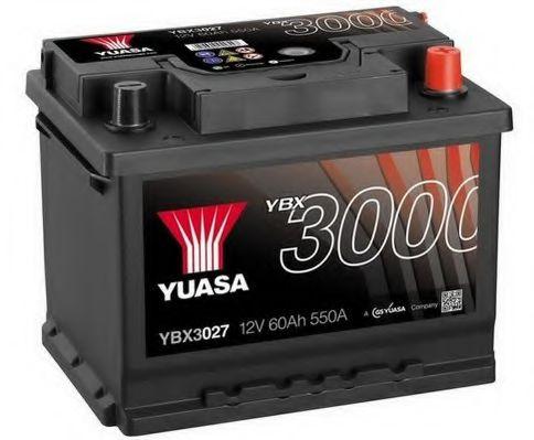 Yuasa 12V 60Ah SMF Battery YBX3027 (0)  арт. YBX3027