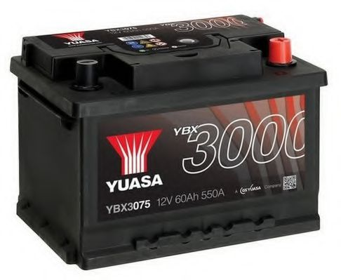 Yuasa 12V 60Ah SMF Battery YBX3075 (0)  арт. YBX3075