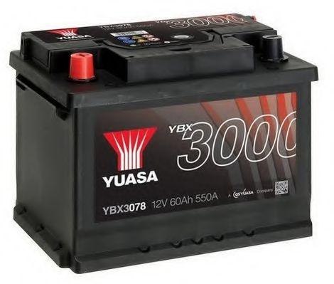 Yuasa 12V 60Ah SMF Battery YBX3078 (1)  арт. YBX3078