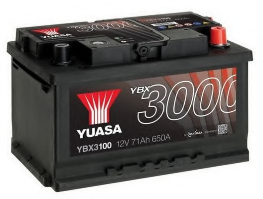 Yuasa 12V 71Ah SMF Battery YBX3100 (0)  арт. YBX3100