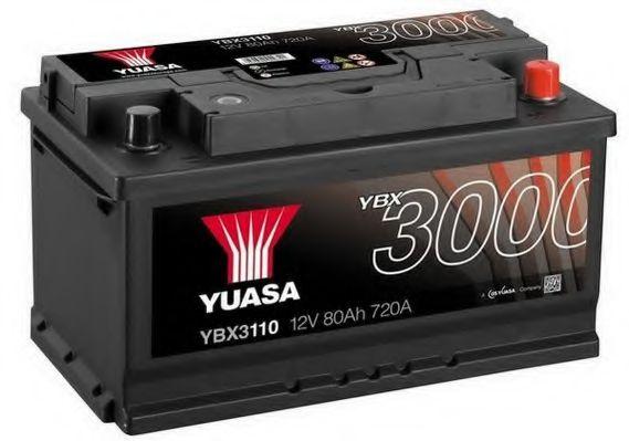 Yuasa 12V 80Ah SMF Battery YBX3110 (0)  арт. YBX3110
