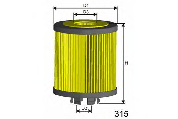 Фільтр масляний Mondeo 2.0D/Transit 2.0D2.4D 00-  арт. L107
