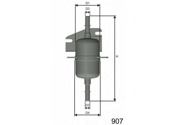 Фильтр топливный Fiat Palio/Siena/Strada/Seicento 96-  арт. E105