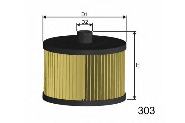 Фильтр топлива C4 I,C5 II,III,C8;FIAT SCUDO,ULYSSE;FORD FOCUS, II,KUGA I, S-MAX 2.0HDI 03-  арт. F104