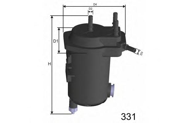 Фільтр палива з датчиком Renault Megane II 1.5Dci 02- MISFAT F114A
