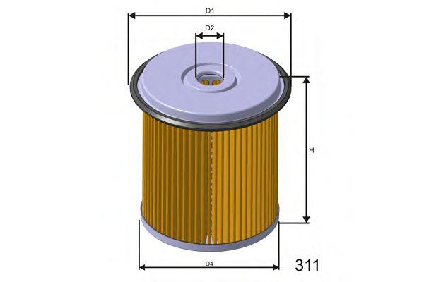 Фильтр топлива PEUGEOT DIESEL 93-, SCUDO 1.9D/TD 96-  арт. F676