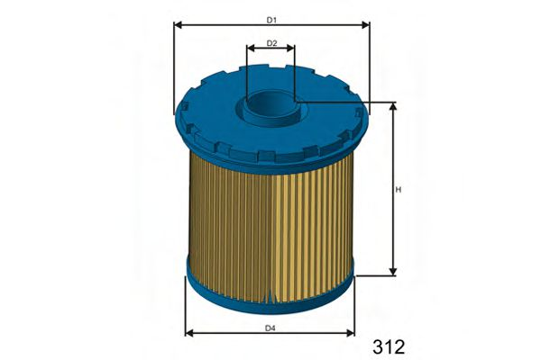 Фильтр топлива FORD FOCUS II/C-MAX/S-MAX/GALAXY II 1.8TDCI 11/04-  арт. F117