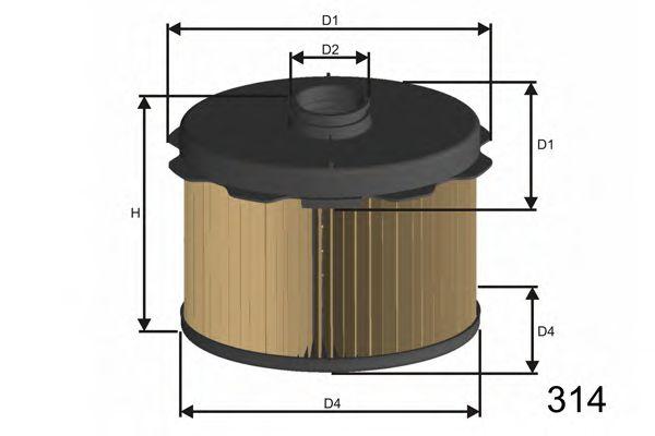 Фильтр топлива PEUGEOT/CITROEN 1.9D (DW8) 04/98- /овальный/  арт. FM646