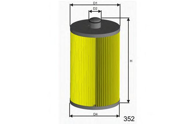 Фiльтр палива VW Crafter 2,5 TDi MISFAT F012