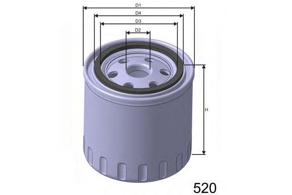 Фильтр масла CITROEN/PEUGEOT все модели 7/94- /H=90mm/  арт. Z191