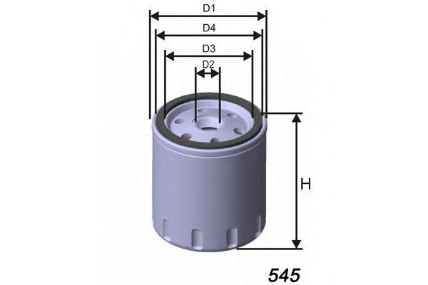 Фильтр масла ALFA ROMEO 145, 146, 164, 33, ALFASUD, ALFASUD SPRINT, ARNA; FIAT 127, 127 69-  арт. Z169
