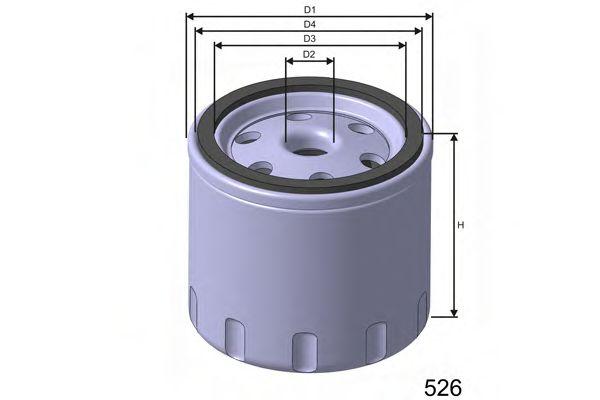 Фільтр паливний дизельного двигуна  арт. M370