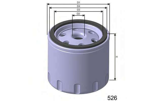 Фільтр масляний двигуна CITROEN/PEUGEOT/GM/OPEL WIX FILTERS арт. Z617