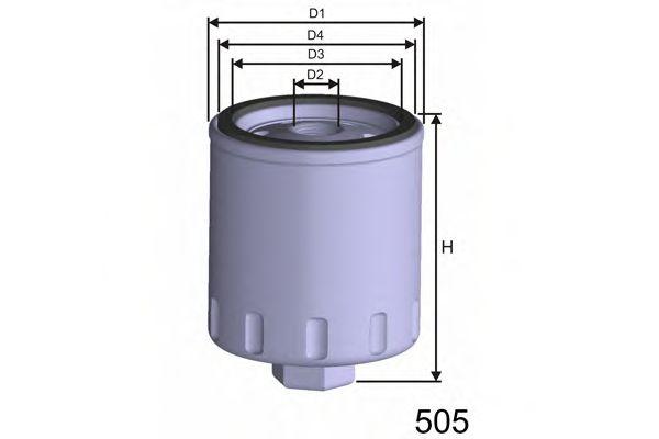 =Z282A Фильтр масла VW GOLF 1,4 8/97-/SEAT AROSA/CORDOBA/IBIZA MISFAT Z282