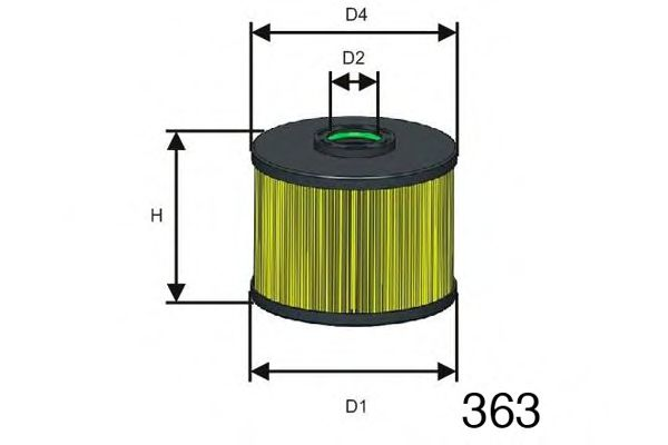 Фільтр паливний Citoren/Ford/Peugeot 2.0 HDi 09-/2.0 TDCi 11-   арт. F128
