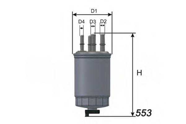 Фільтр палива Landrover 2.7TD 04-> MISFAT M331
