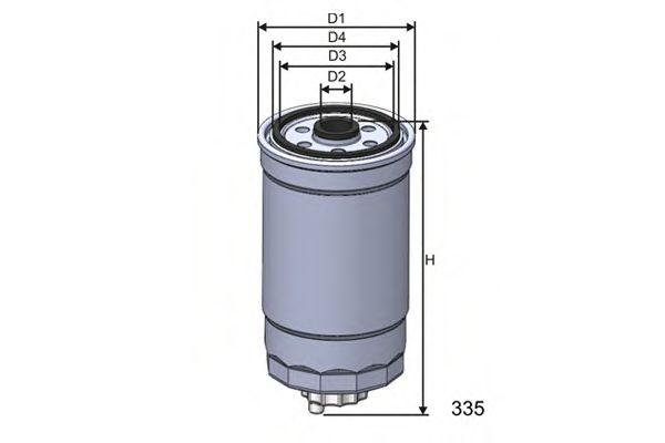 Фильтр топлива VW/AUDI 1.6D - 2.4D,FIAT 1.9D/2.5D  арт. M351