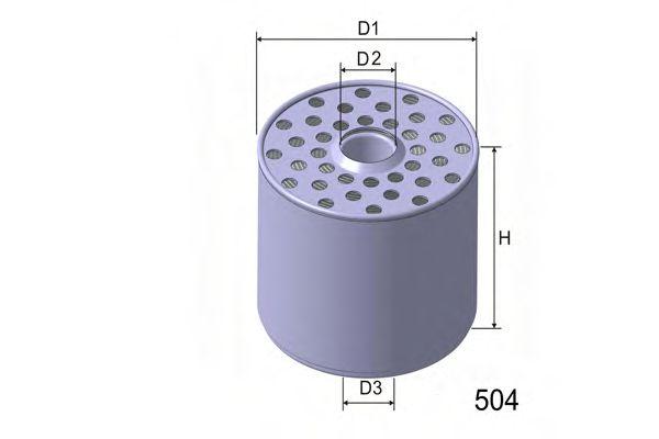 Фильтр топлива FORD 2.3/2.5D; DAF 400/431/435 2.5D/TD 08/89- / CAV / H=112,5mm  арт. M361