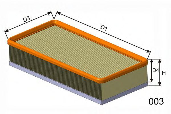 Воздушный фильтр  арт. P991