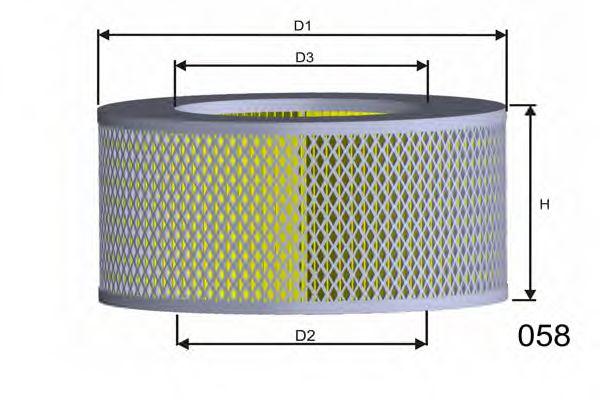Воздушный фильтр  арт. R069