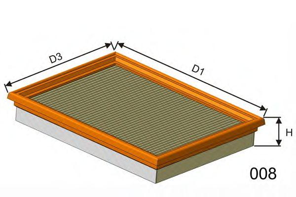 Воздушный фильтр  арт. P168