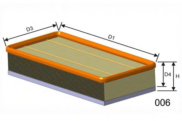 Воздушный фильтр  арт. P066