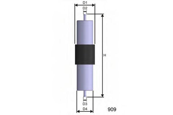 Фільтр паливний Bmw 316i, 318i, 318is, 328i, 530i, 54  арт. E569
