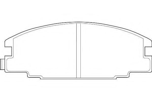 Комплект тормозных колодок, дисковый тормоз  арт. WBP21467A