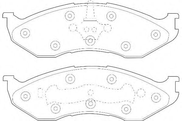 Комплект тормозных колодок, дисковый тормоз  арт. WBP21822A