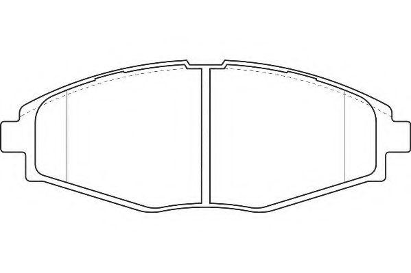 Комплект тормозных колодок, дисковый тормоз  арт. WBP23241A