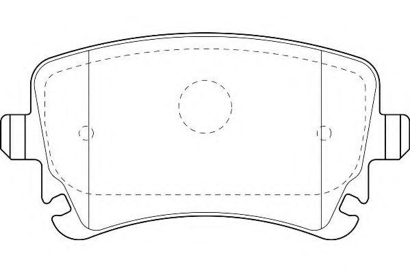 Комплект тормозных колодок, дисковый тормоз  арт. WBP23326B