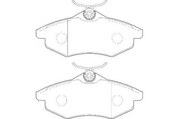 Тормозные колодки Wagner WAGNER WBP23407A