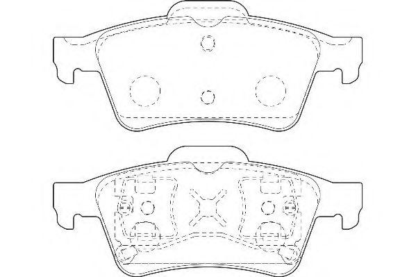 Тормозные колодки Wagner  арт. WBP23482A
