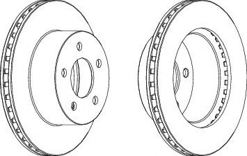 Тормозной диск  арт. WGR10271