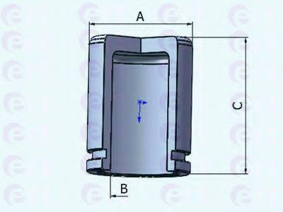 Поршень, корпус скобы тормоза D025302 (пр-во ERT)                                                    в интернет магазине www.partlider.com