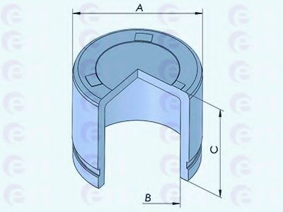 Поршень, корпус скобы тормоза D025322 (пр-во ERT)                                                    в интернет магазине www.partlider.com
