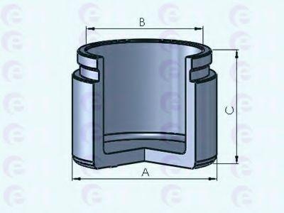 Поршень, корпус скобы тормоза D025323 (пр-во ERT)                                                    в интернет магазине www.partlider.com