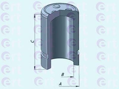Поршень, корпус скобы тормоза D025384 (пр-во ERT)                                                    в интернет магазине www.partlider.com