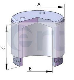 Поршень, корпус скобы тормоза  арт. 150292C