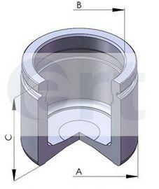 Поршень, корпус скобы тормоза D02587 (пр-во ERT)                                                     в интернет магазине www.partlider.com