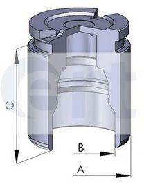 Поршень, корпус скобы тормоза D02593 (пр-во ERT)                                                      арт. 150555C
